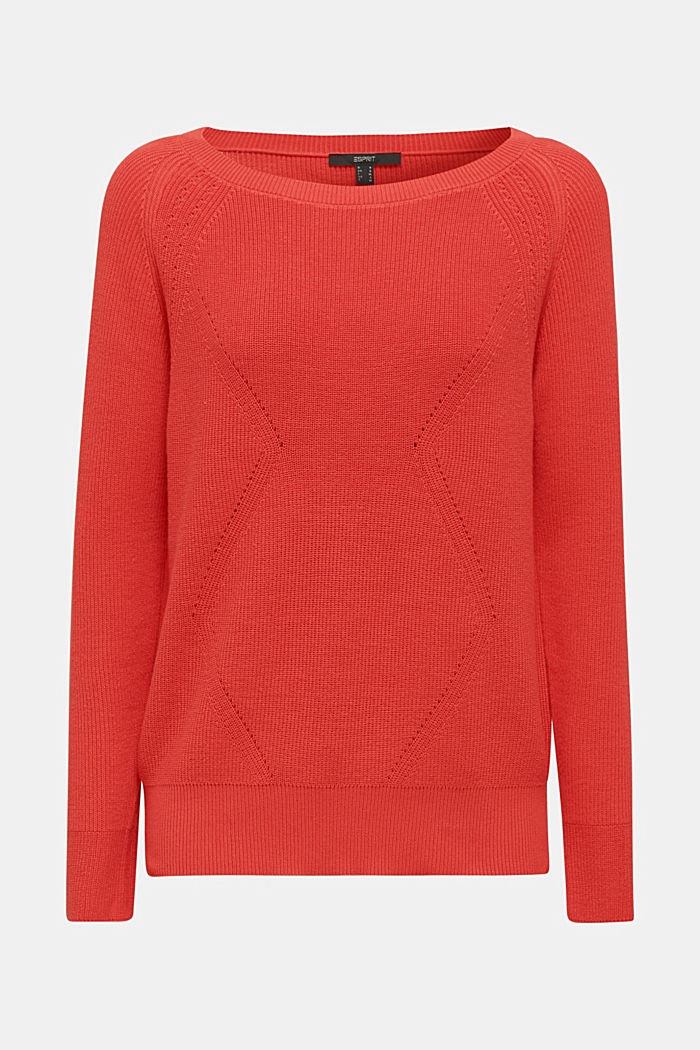 Jumper with a textured pattern, TERRACOTTA, detail image number 6