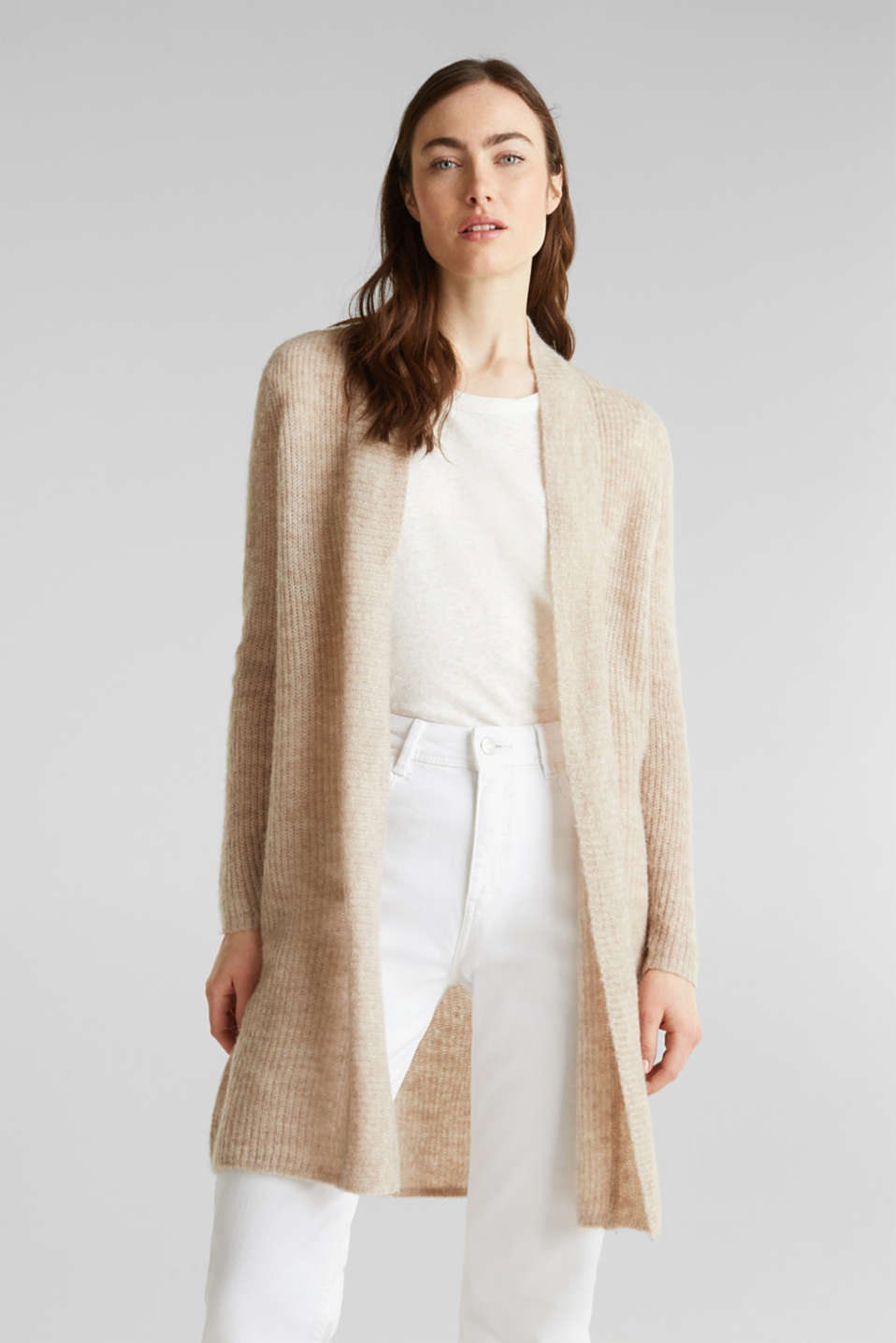 Esprit - Mit Wolle/Alpaka: softer Long-Cardigan