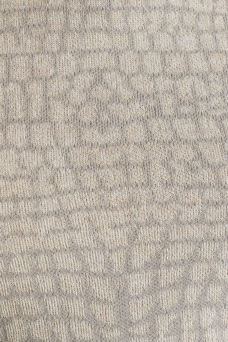 Short sleeve jumper with a jacquard pattern, NUDE 5, detail image number 3