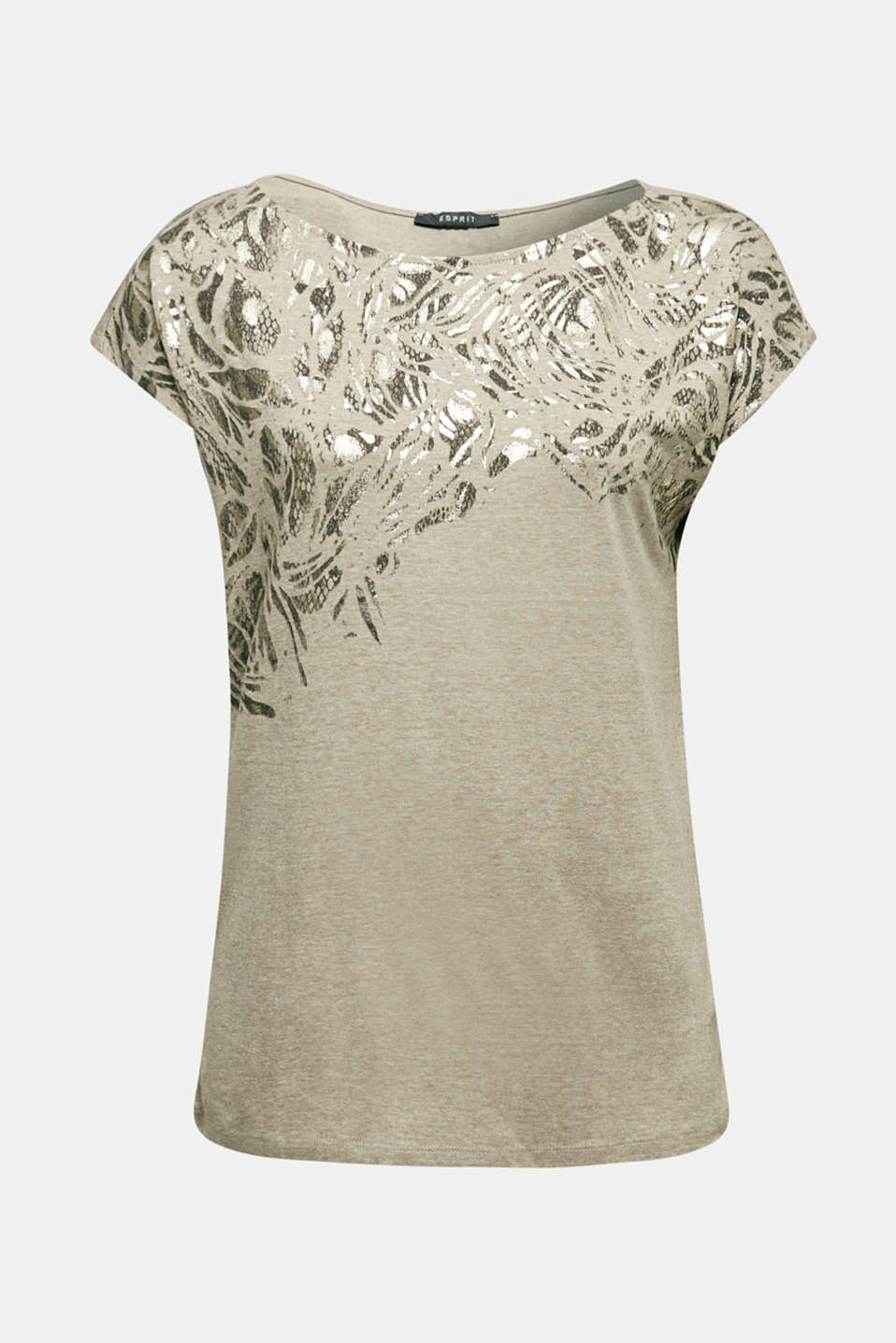 T-Shirts, LIGHT TAUPE 5, detail image number 5