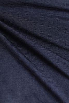 Long sleeve top with an open polo collar