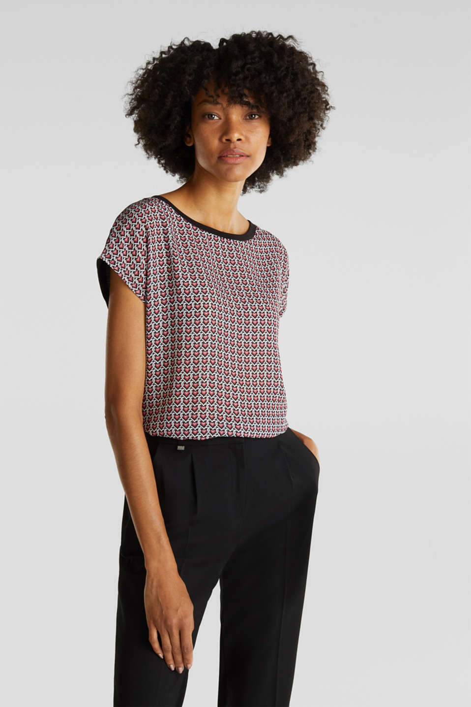 Esprit - Blouse top in a mix of materials