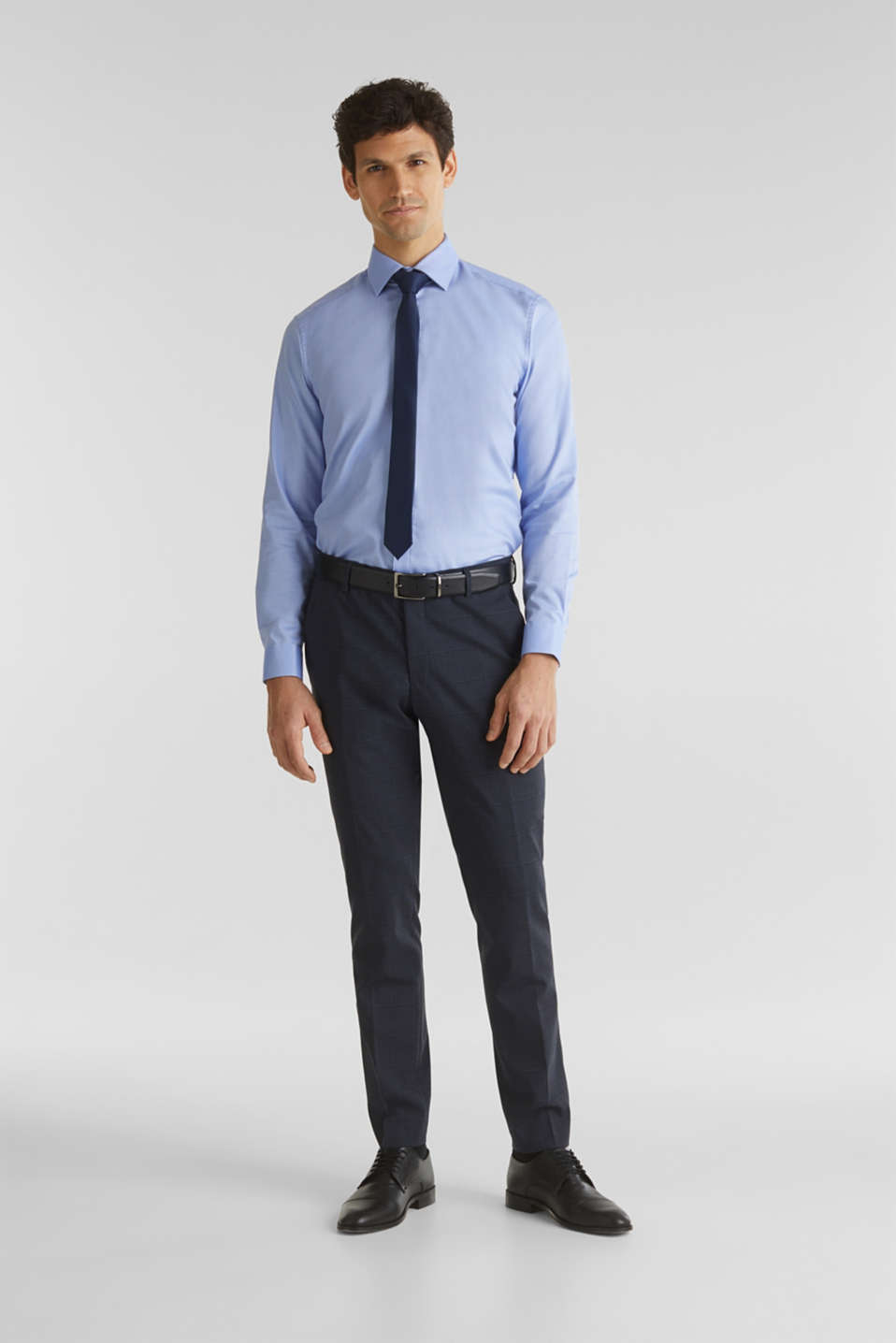 WINDOW CHECK mix + match trousers with stretch, DARK BLUE 3, detail image number 7