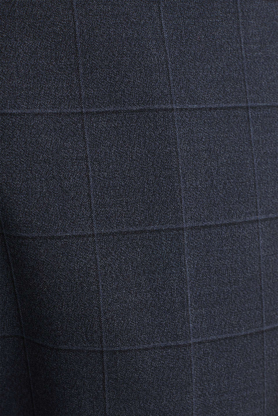 WINDOW CHECK mix + match trousers with stretch, DARK BLUE 3, detail image number 4