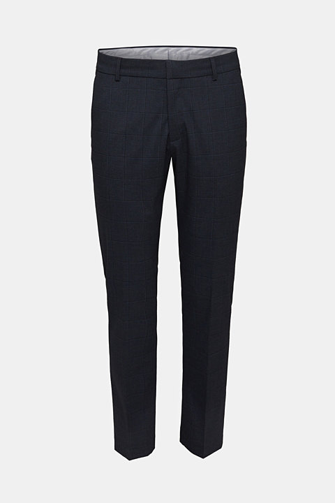 WINDOW CHECK mix + match trousers with stretch