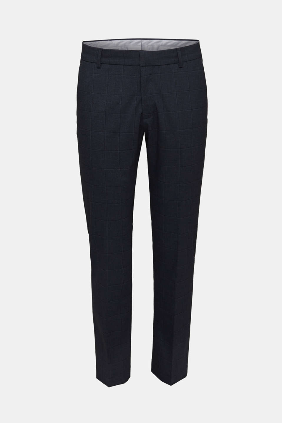 WINDOW CHECK mix + match trousers with stretch, DARK BLUE 3, detail image number 6