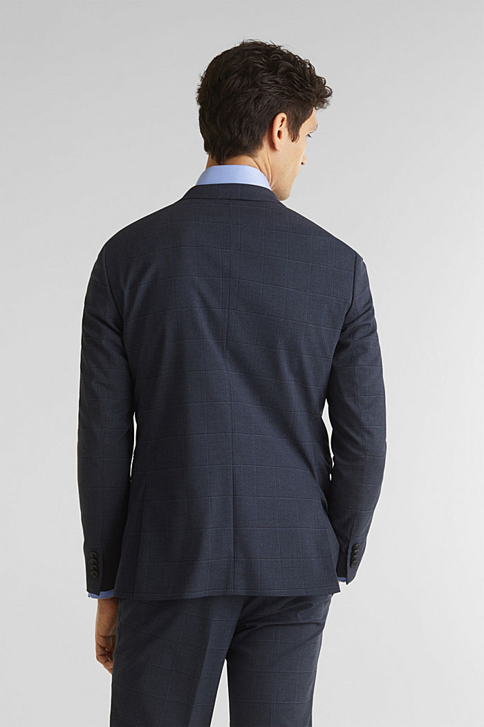 WINDOW CHECK mix + match stretch jacket, DARK BLUE, detail image number 3