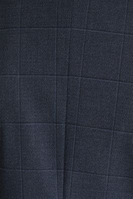 WINDOW CHECK mix + match stretch jacket, DARK BLUE 3, detail
