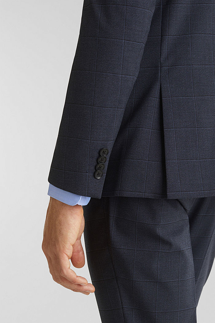 WINDOW CHECK mix + match stretch jacket, DARK BLUE, detail image number 6