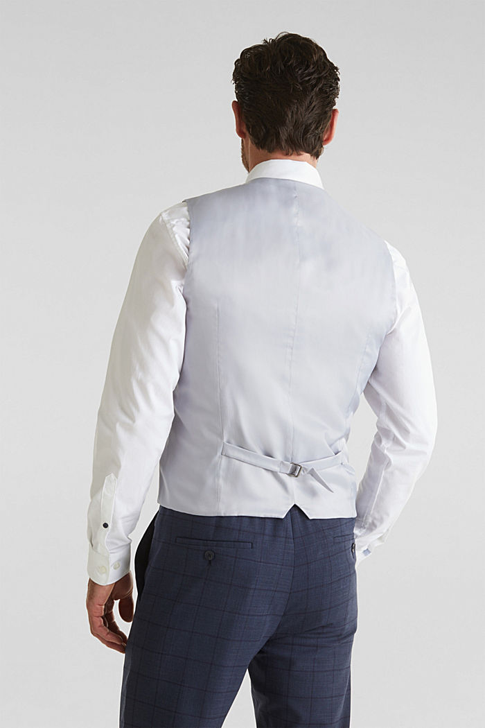 WINDOW CHECK mix + match: waistcoat, DARK BLUE, detail image number 3
