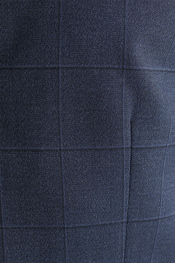 WINDOW CHECK mix + match: waistcoat, DARK BLUE, detail image number 5