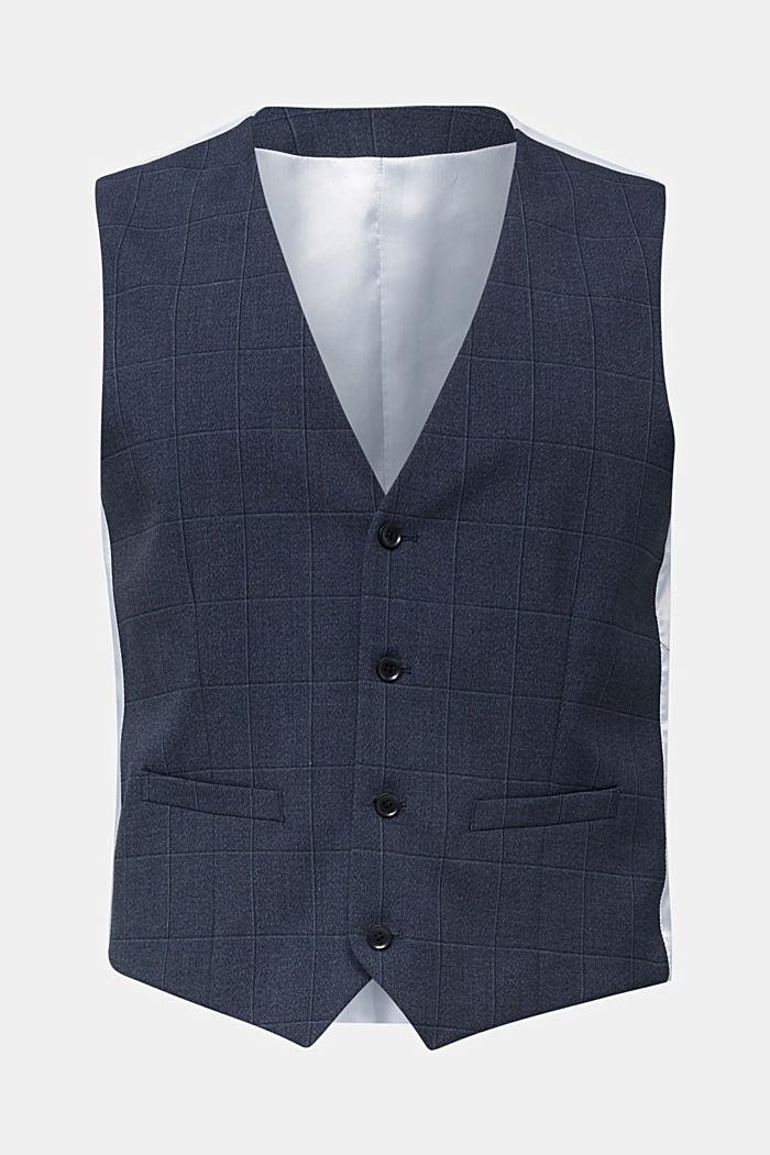 WINDOW CHECK mix + match: waistcoat, DARK BLUE, detail image number 7