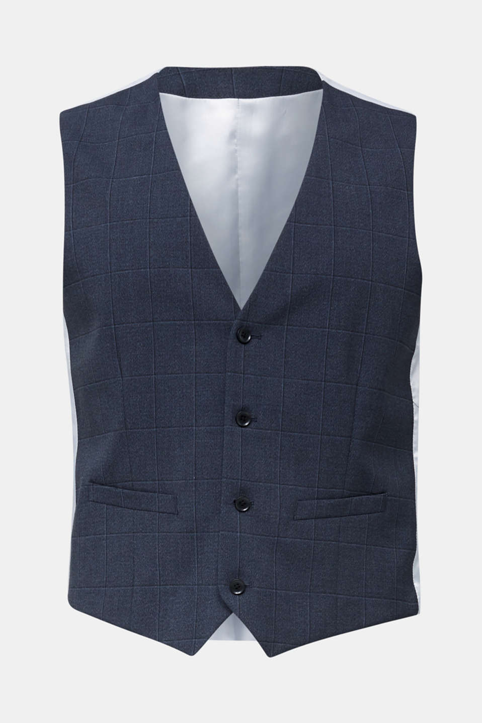 WINDOW CHECK mix + match: waistcoat, DARK BLUE 3, detail image number 7
