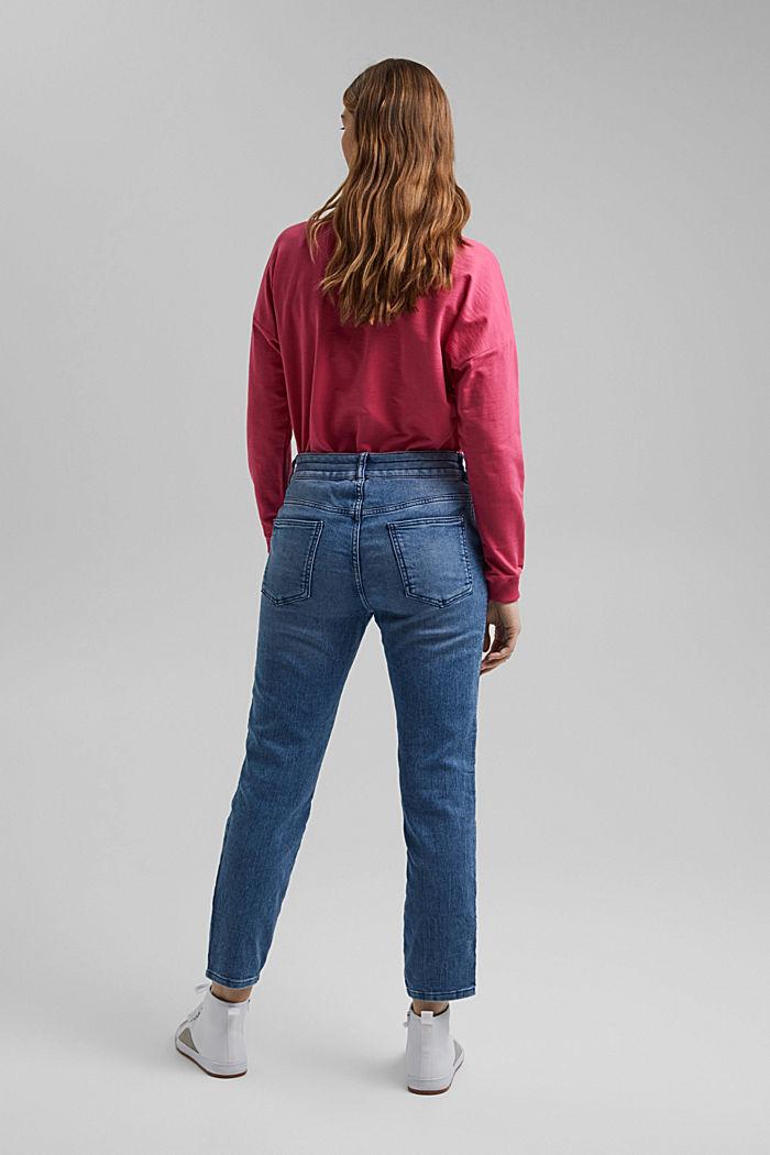 Jogger-Jeans im Boyfriend-Cut, BLUE MEDIUM WASHED, detail image number 3