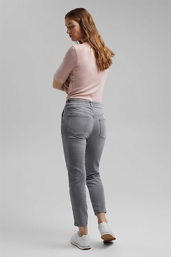 Jogger jeans met boyfriendmodel, GREY LIGHT WASHED, detail image number 3