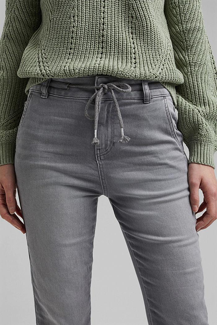 Jogger jeans met boyfriendmodel, GREY LIGHT WASHED, detail image number 2