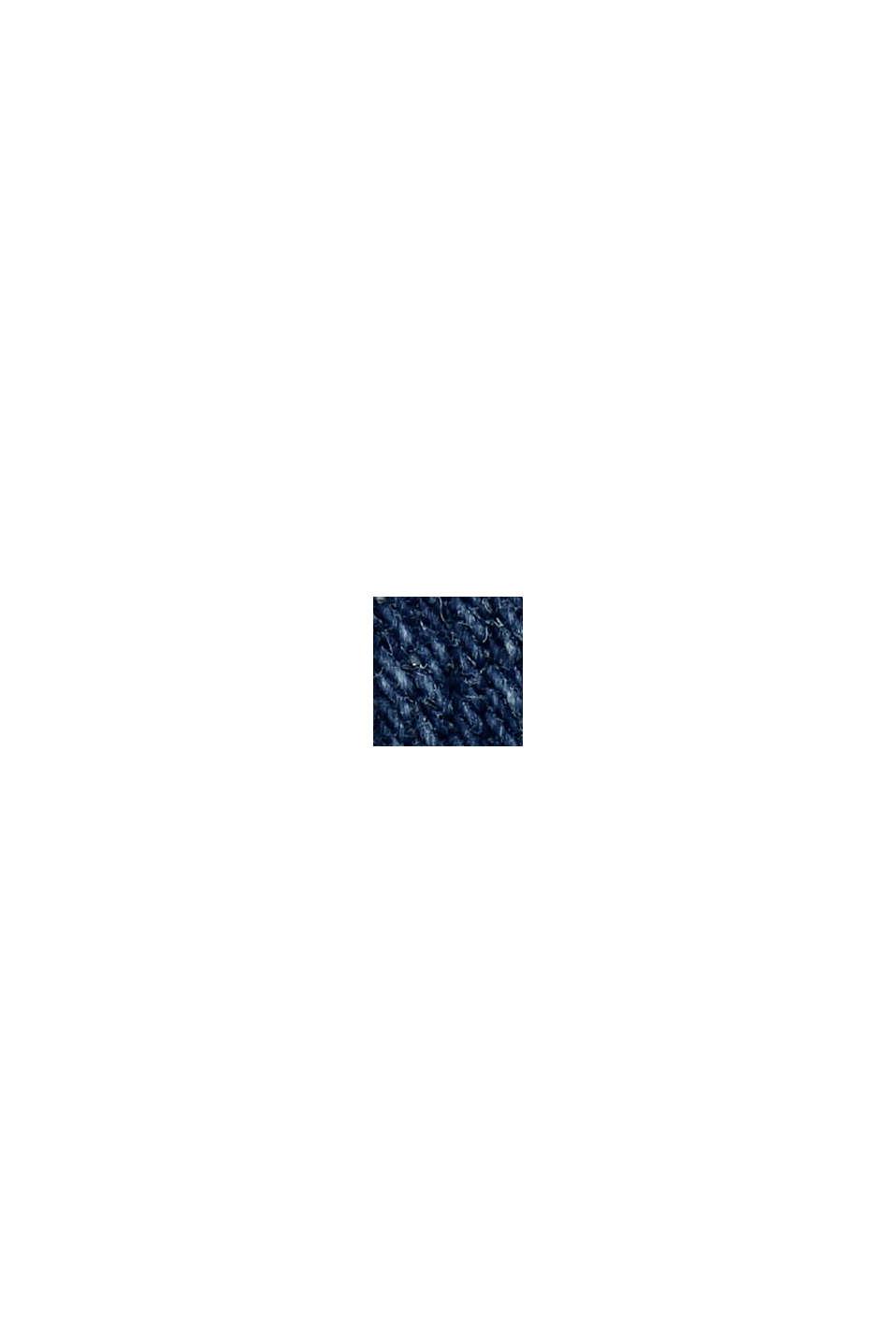 Jeans med slitningar, två knappar och ekologisk bomull, BLUE DARK WASHED, swatch