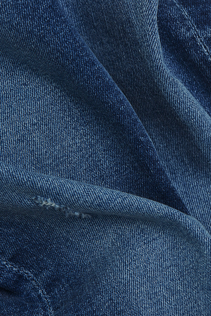 Destroyed 2-Knopf-Jeans mit Organic Cotton, BLUE MEDIUM WASHED, detail image number 4