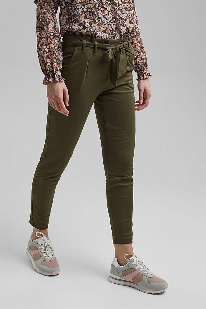 Jogger-Pants mit Paperbag-Bund und Gürtel