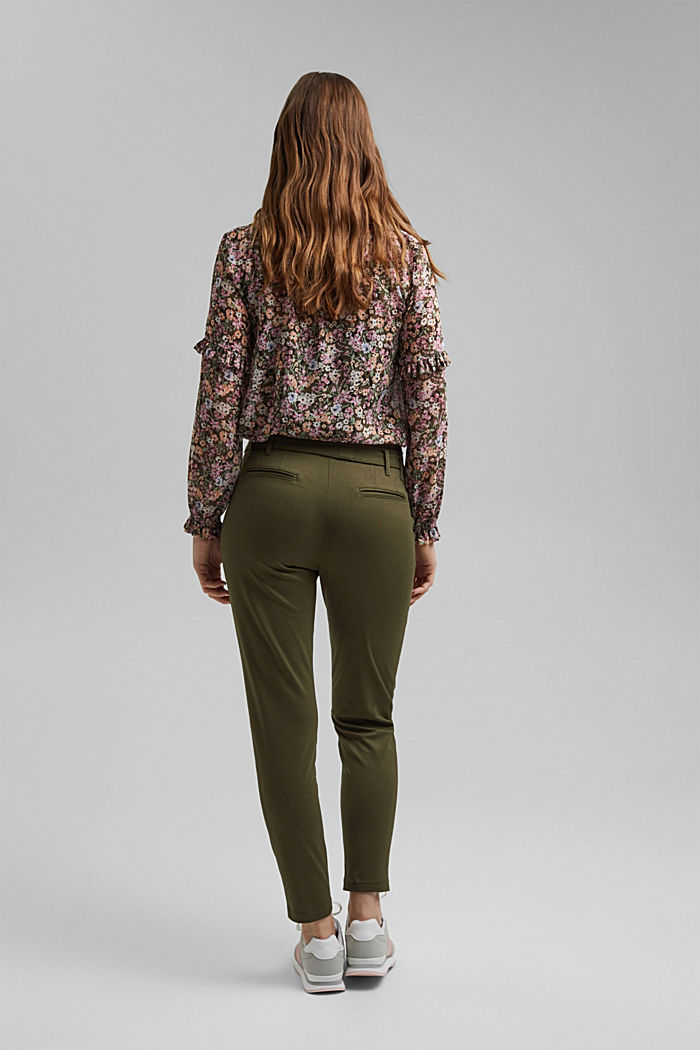 Tracksuit bottoms with a paperbag waistband and belt, KHAKI GREEN, detail image number 3