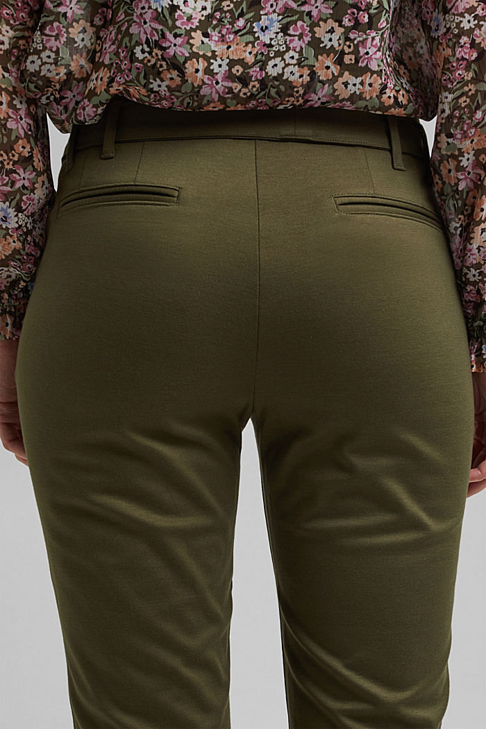 Tracksuit bottoms with a paperbag waistband and belt, KHAKI GREEN, detail image number 5