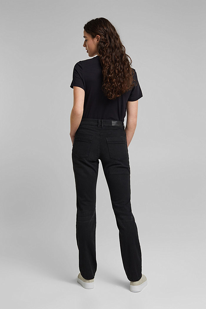 Stretch trousers with patch pockets, BLACK, detail image number 3