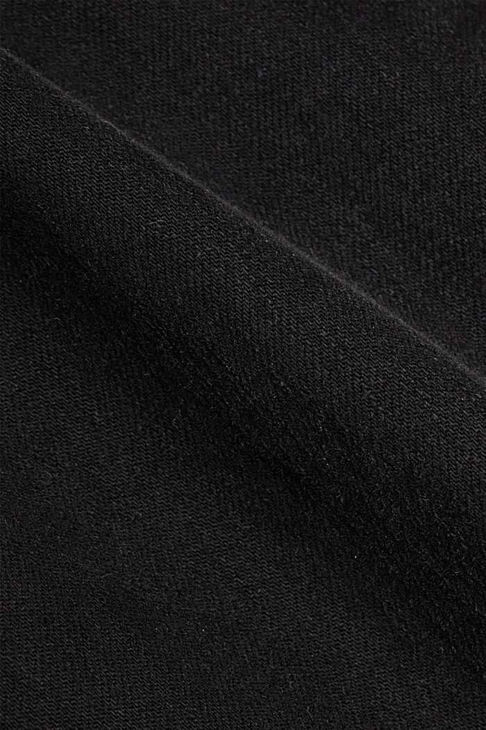Stretch trousers with patch pockets, BLACK, detail image number 4