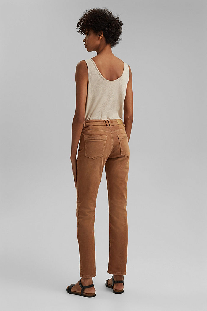 Stretch trousers with patch pockets, CARAMEL, detail image number 3