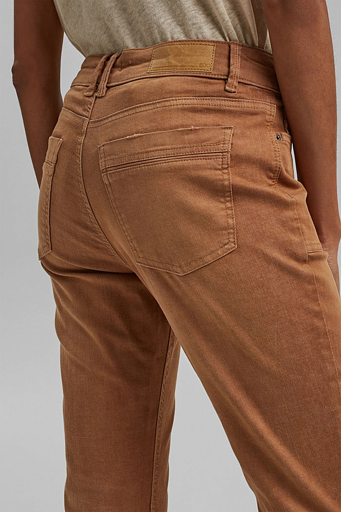 Stretch trousers with patch pockets, CARAMEL, detail image number 4