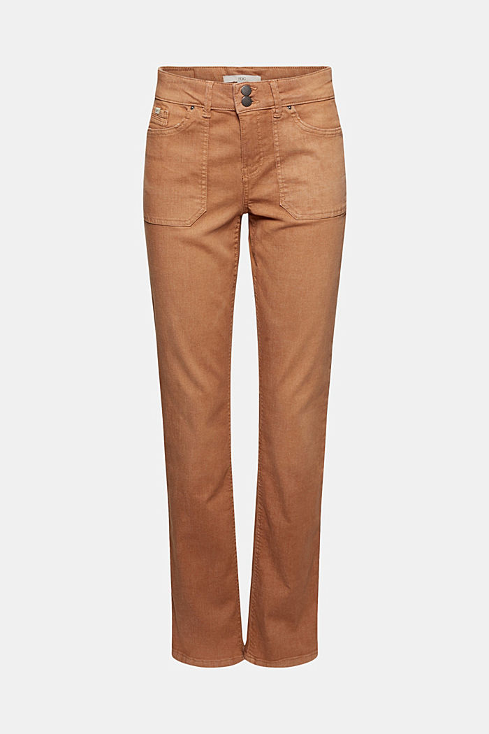 Stretch trousers with patch pockets, CARAMEL, detail image number 5