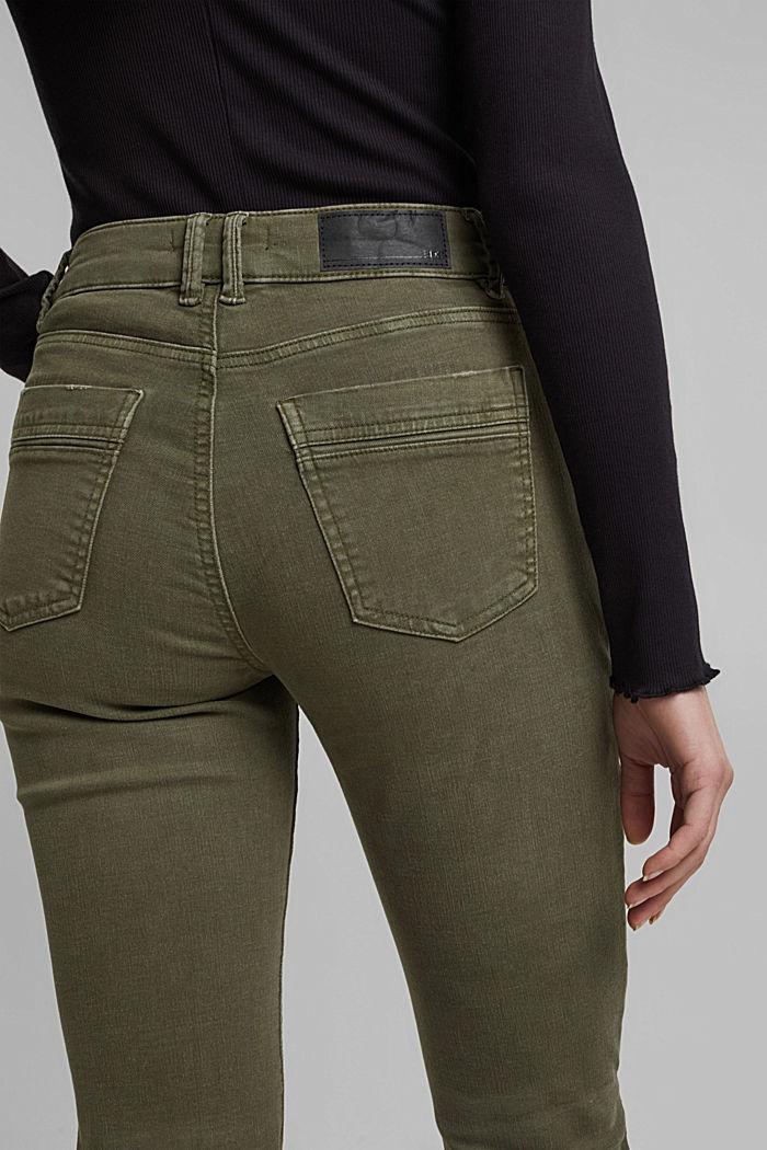 Stretchbroek met opgestikte zakken, KHAKI GREEN, detail image number 2