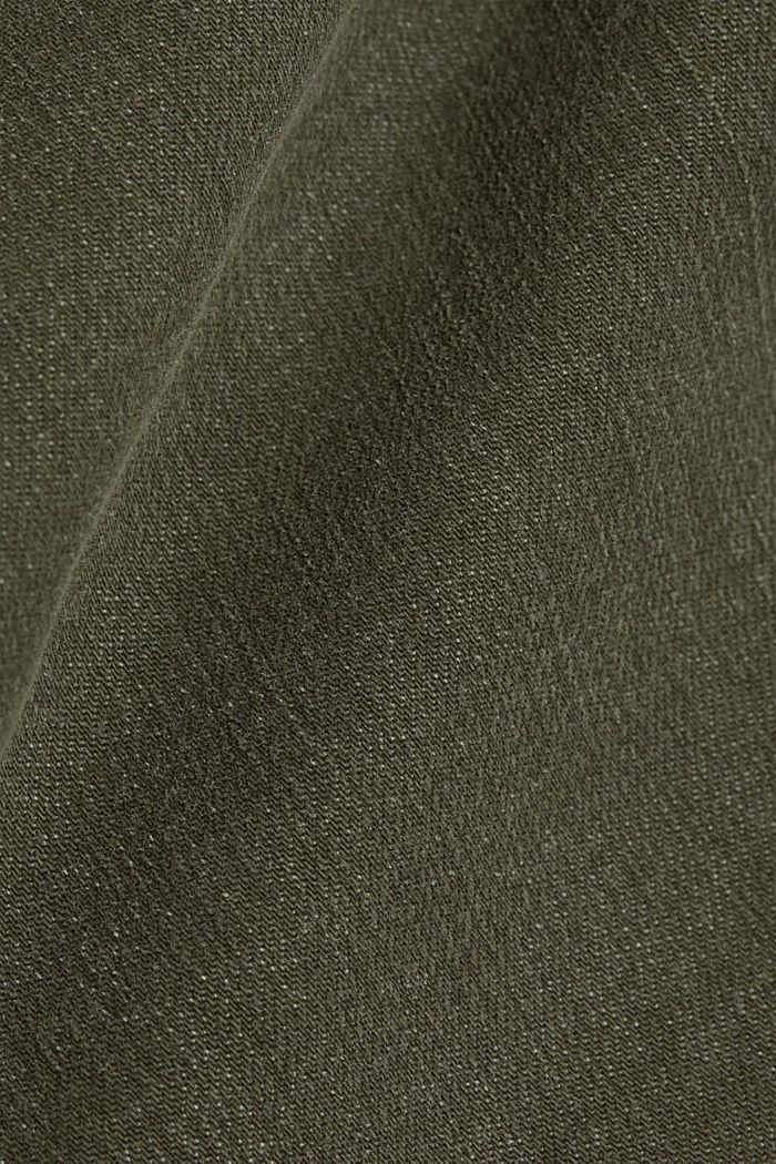Stretchbroek met opgestikte zakken, KHAKI GREEN, detail image number 4