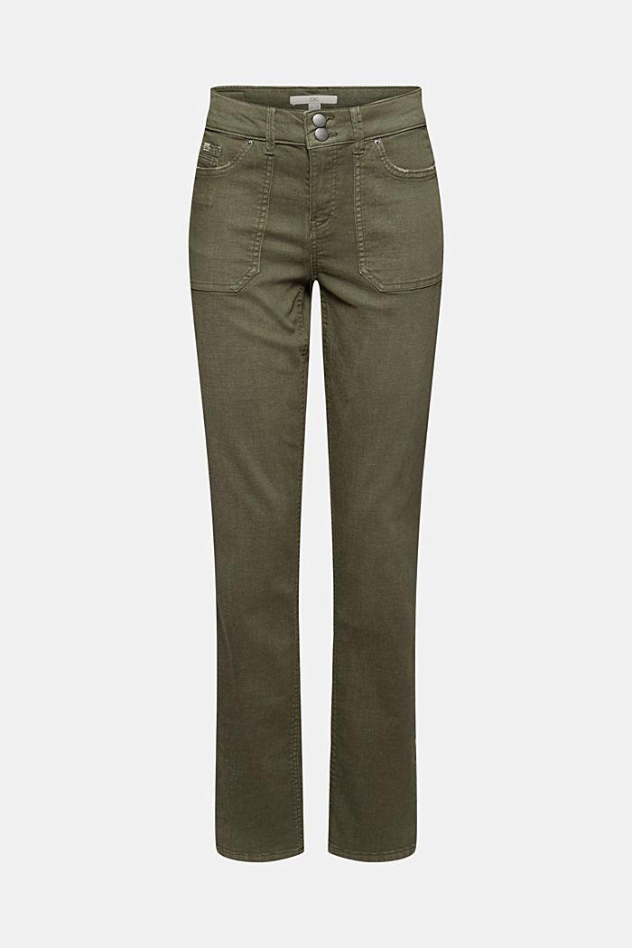 Stretch-Hose mit aufgesetzten Taschen