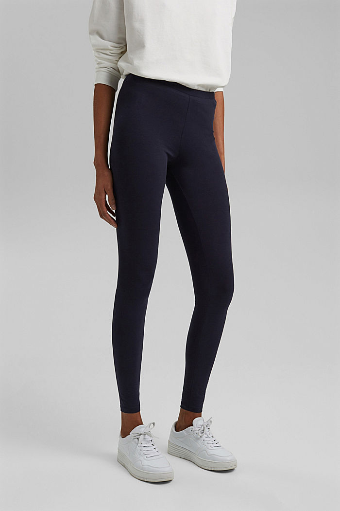 Basic Leggings aus Bio-Baumwolle/ Stretch, NAVY, detail image number 0