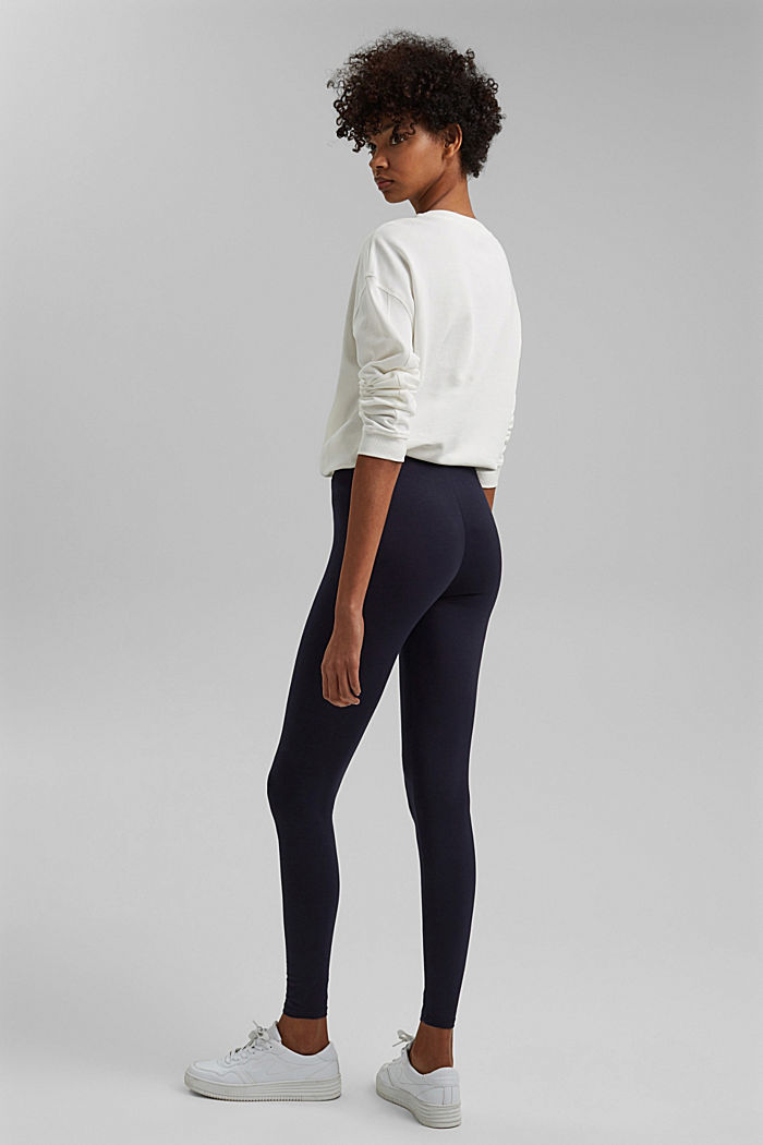 Basic Leggings aus Bio-Baumwolle/ Stretch, NAVY, detail image number 3