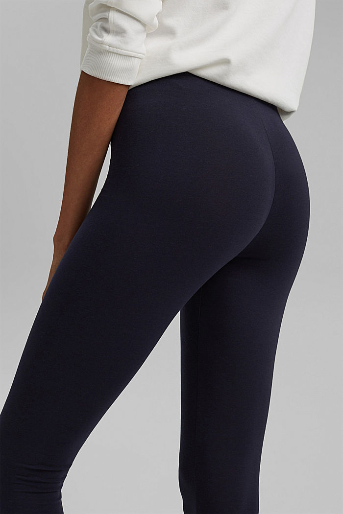 Basic Leggings aus Bio-Baumwolle/ Stretch, NAVY, detail image number 2
