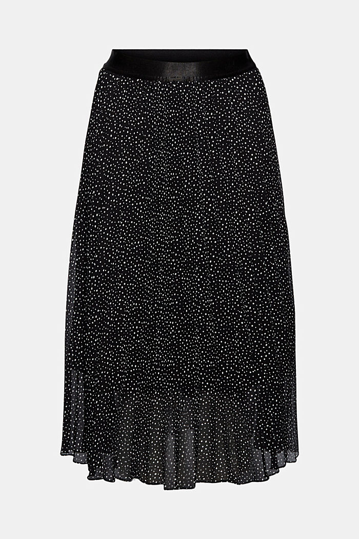 Recycled: chiffon plissé skirt, BLACK, detail image number 5