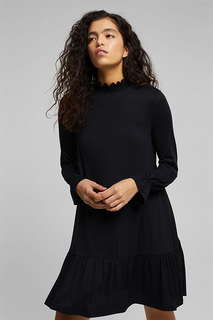 Vestido de jersey con LENZING™ ECOVERO™, BLACK, detail image number 0