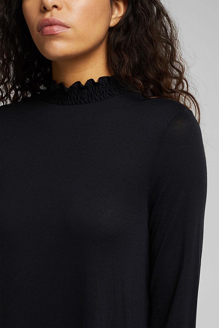 Vestido de jersey con LENZING™ ECOVERO™, BLACK, detail image number 3