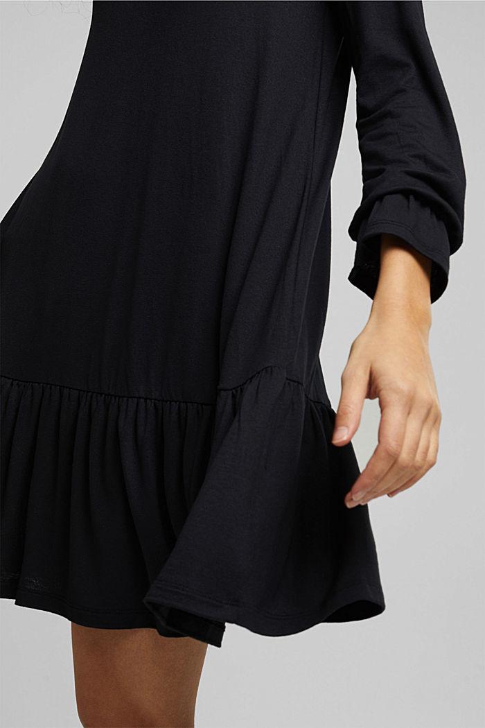 Vestido de jersey con LENZING™ ECOVERO™, BLACK, detail image number 6