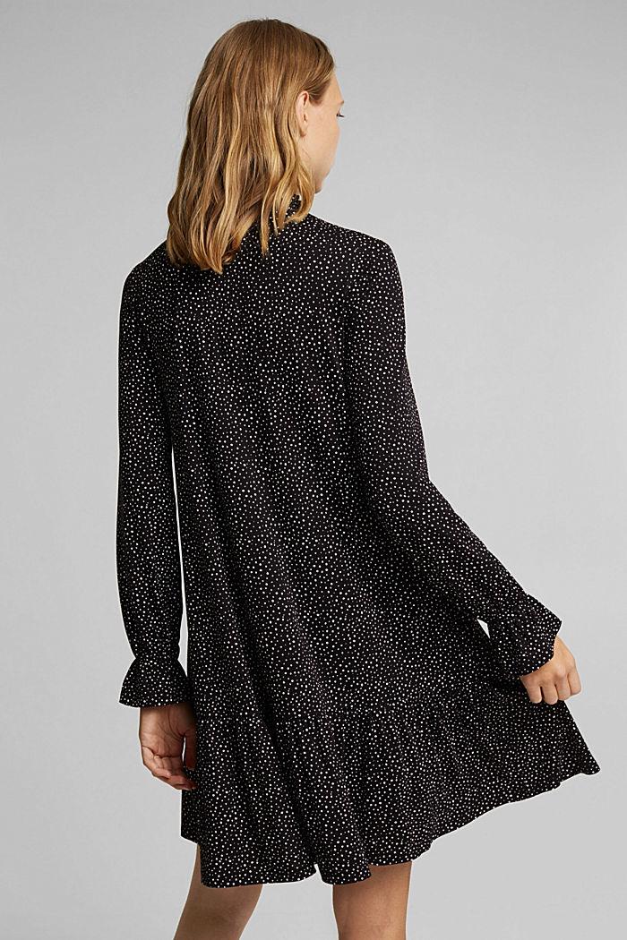 Jersey-Kleid mit LENZING™ ECOVERO™, BLACK / WHITE, detail image number 2