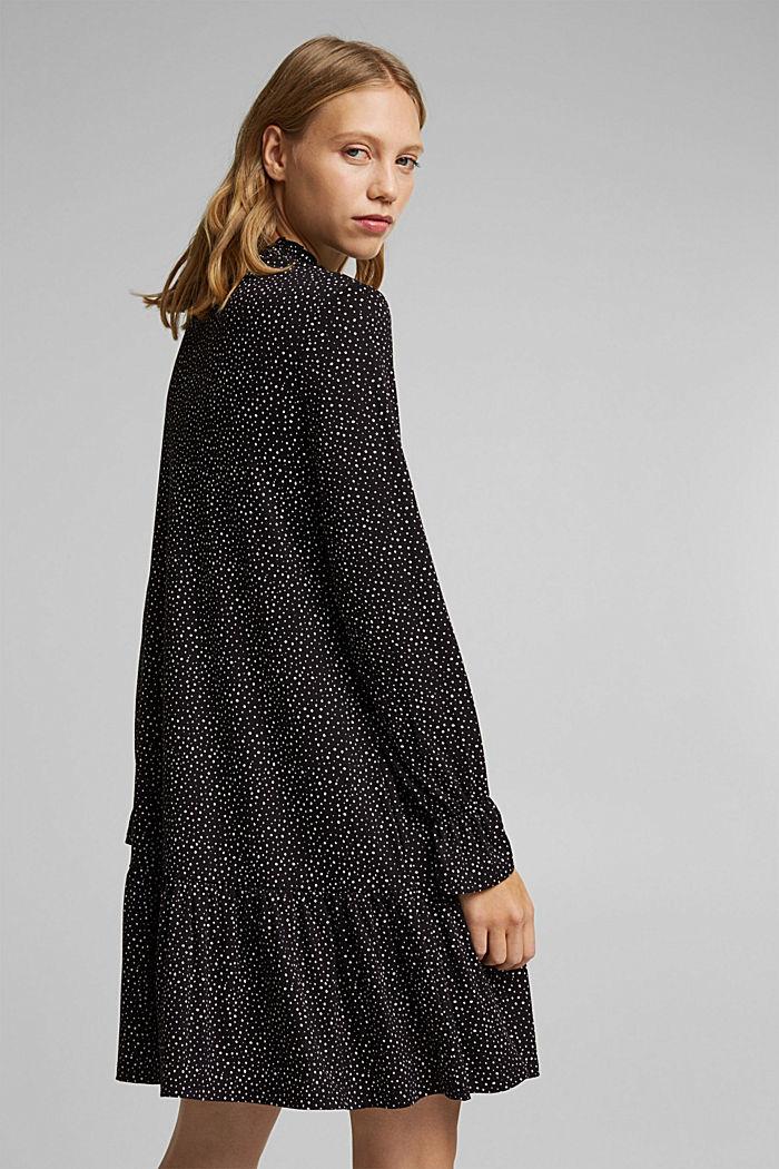 Jersey-Kleid mit LENZING™ ECOVERO™, BLACK / WHITE, detail image number 4