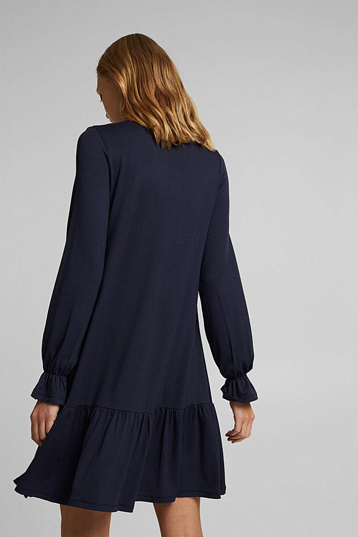 Jerseyklänning med LENZING™ ECOVERO™, NAVY, detail image number 2