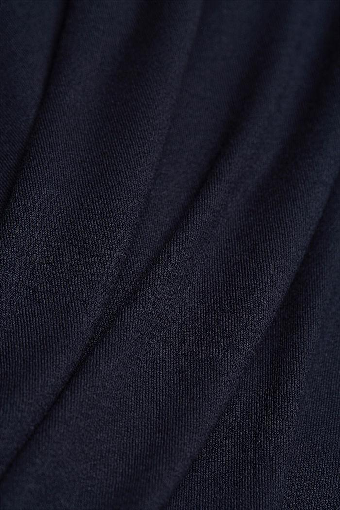 Jerseyklänning med LENZING™ ECOVERO™, NAVY, detail image number 4