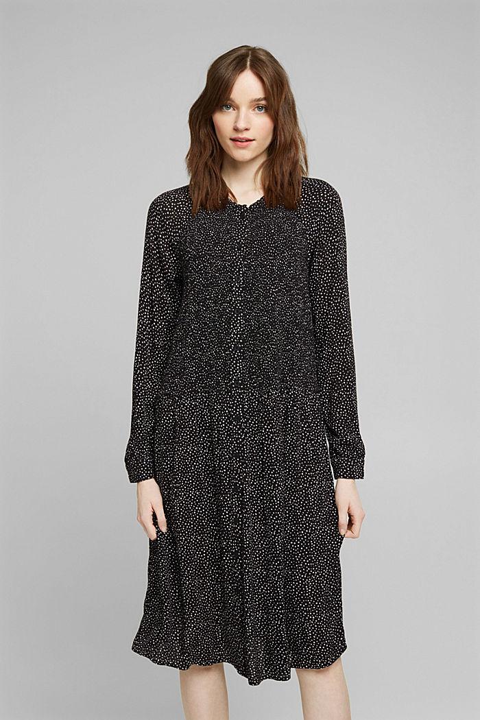Kleid aus LENZING™ ECOVERO™, BLACK, detail image number 0