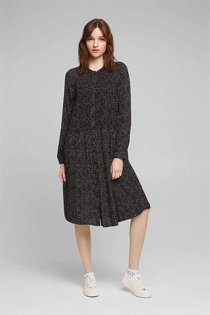 Kleid aus LENZING™ ECOVERO™, BLACK, detail image number 6