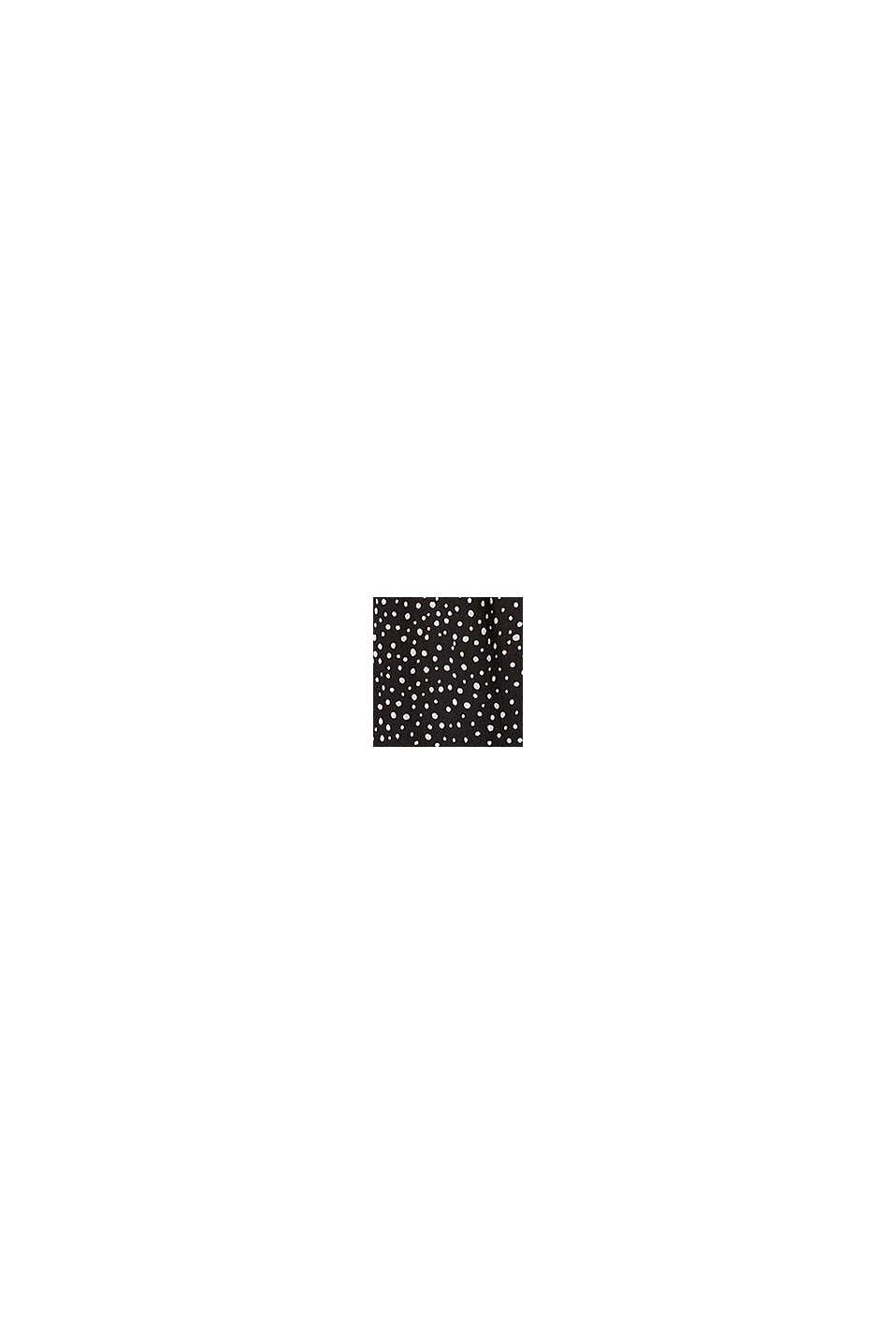 Mönstrad blus i LENZING™ ECOVERO™, BLACK, swatch