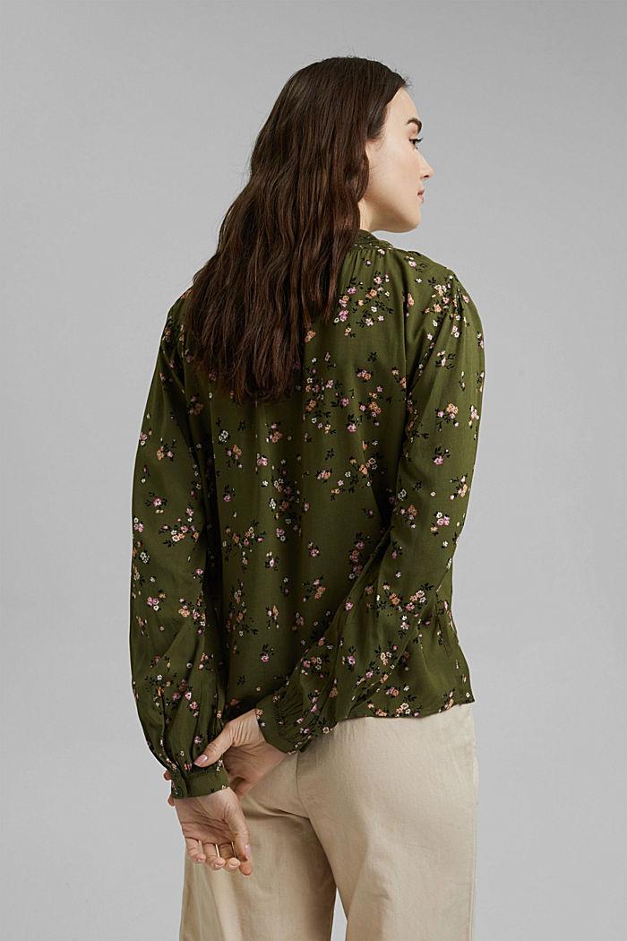 Bluse aus LENZING™ ECOVERO™, KHAKI GREEN, detail image number 3
