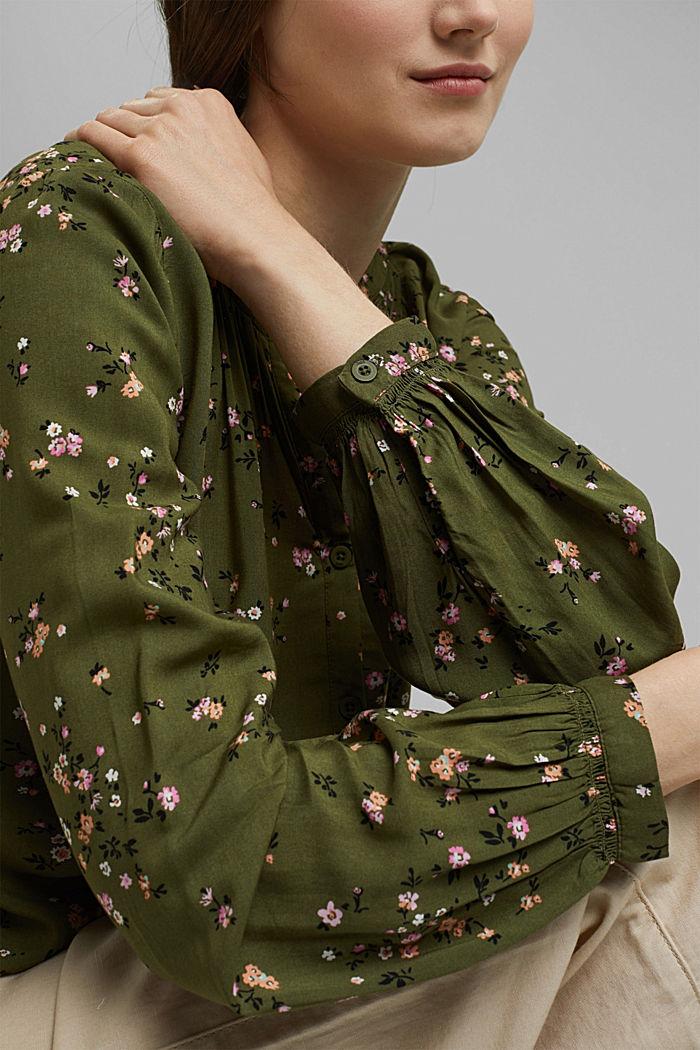 Bluse aus LENZING™ ECOVERO™, KHAKI GREEN, detail image number 2