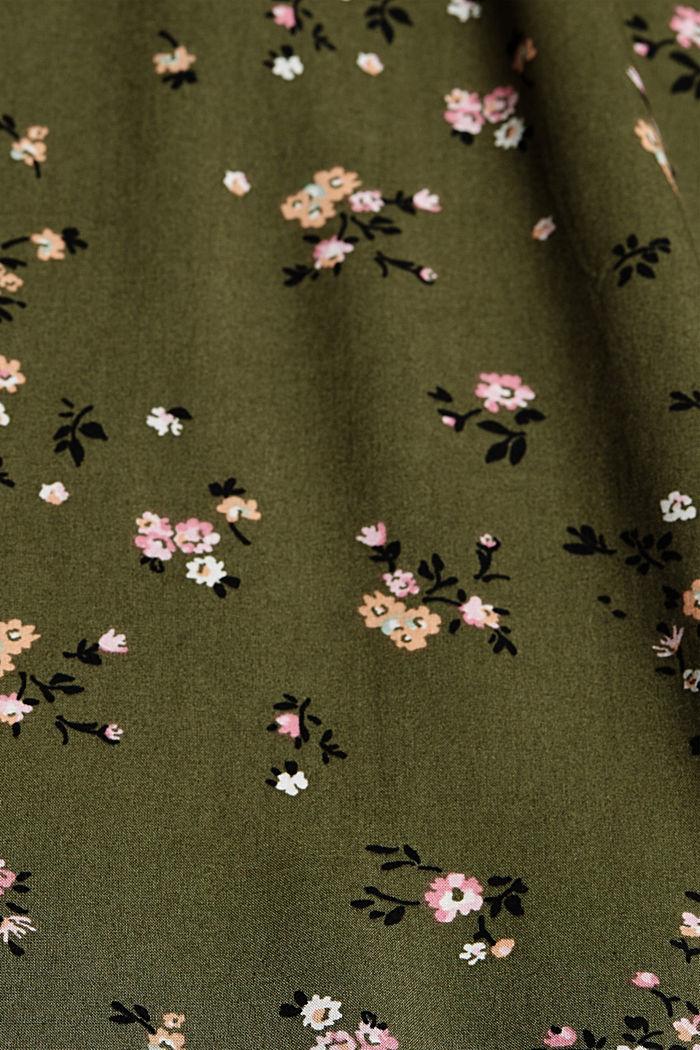 Bluse aus LENZING™ ECOVERO™, KHAKI GREEN, detail image number 4